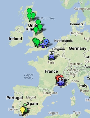 Europe 2013 - Map of Travels